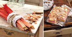 Rhabarberkuchen mit süsser Schneehaube Butcher Block Cutting Board, Desserts, Food, Biscuits, Simple, Tips, Recipies, Tailgate Desserts, Deserts