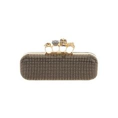 """Alexander McQueen clutch. I love the design-- so easy to """"clutch""""-- it is absolutely brilliant!"""