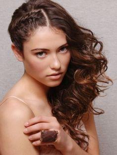 one side braided, one side curls