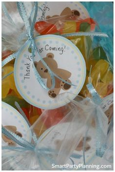 Cute thank you tags for a baby shower party favor #BabyShower #PartyPrintable #ThankYouTag #Favor