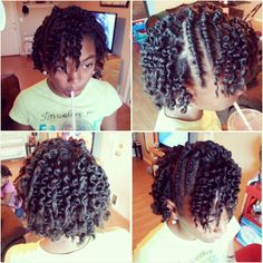 Flat twist and twist out.