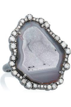 Just another stunning piece of jewelry... Kimberly McDonald18-karat white gold geode and diamond ring