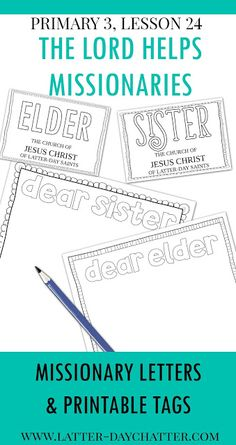 Latter-day Chatter: Primary 3, Lesson 24
