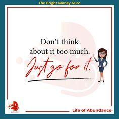 thinking too much...  just do it  #thebrightmoneyguro #kaurinbo