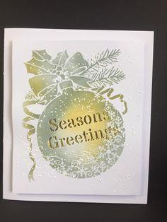 Handmade Christmas Crafts, Christmas Cards To Make, Xmas Cards, Holiday Cards, Snowflake Stencil, Snowflake Cards, Christmas Snowflakes, Xmas Ornaments, Christmas Baubles