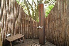 douche extérieur pour jardin  | Photo Decoration : Douche d'exterieur en bois