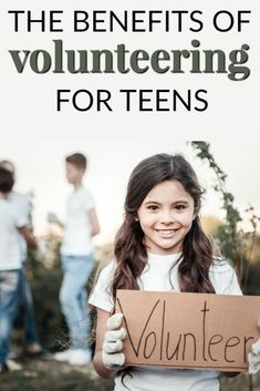 THE BENEFITS OF VOLUNTEERING FOR TEENS Volunteer work has virtually endless benefits for anyone of any age. Volunteering for teens gives your teen a new world view and allows them to realize how hard people will work to help others. Teen Volunteer, Volunteer Gifts, Volunteer Work, Volunteer Ideas, Volunteer Appreciation, Parenting Issues, Parenting Teens, Parenting Advice, Every Mom Needs