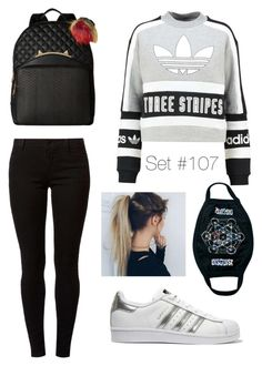 """No Name"" by emma-natalie ❤ liked on Polyvore featuring adidas Originals, Betsey Johnson, Dorothy Perkins and MYVL"