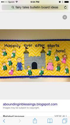 Fairytale bulletin board