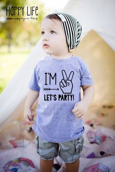 IM TWO LETS PARTY BIRTHDAY Shirt Birthday Shirt! The perfect shirt for your little boys second birthday!! 2nd birthdays are so much fun and your little will be the life of the party!