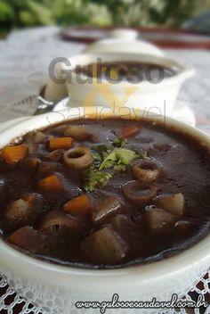 Receita de Sopa de Feijão com Legumes