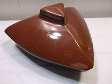 Vintage Mid Century Modern Madmen Serving Dish Divided Brown Triangle.