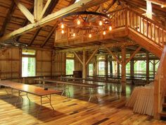 Rustic Barn Venues | inside of the grand barn image via the mohican grand