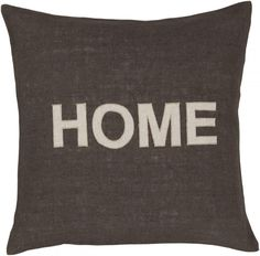 WISH LIST: Home Pillow, Gray [($35.00) Living Room]