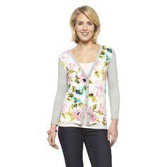 Floral Print V-Neck Favorite Cardigan - Merona