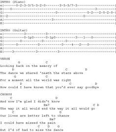 The Dance Garth Brooks tab