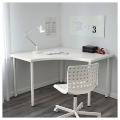 IKEA - LINNMON / ADILS, Corner table, white, Pre-drilled holes for five legs, for easy assembly. Adjustable feet make the table stand steady also on uneven floors. Screws for fixing the legs to the table top are included. Mesa Home Office, Home Office Desks, Office Furniture, Office Decor, Office Ideas, Ikea Office, Pipe Furniture, Furniture Vintage, Office Spaces