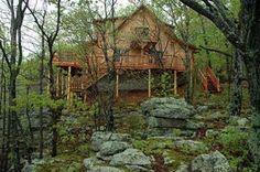 Ozark Bluff Dwellers Cabins in Jasper, Arkansas - We stayed in the Cherokee Cabin for our honeymoon. It was amazing! - www.ozarkbluffdwellers.com