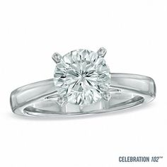 Celebration Lux® 2 CT. Diamond Solitaire Engagement Ring in 14K White Gold (I/SI2)
