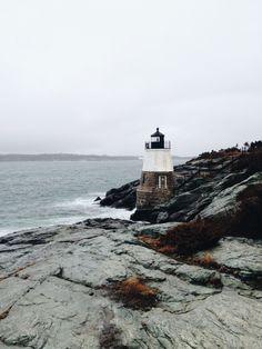Castle Hill Lighthouse. Newport, Rhode Island.