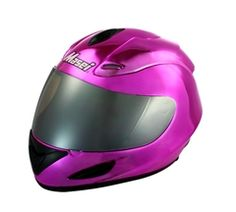 MASEI Pink Chrome 802 Full Face Motorcycle DOT Helmet - Free Shipping Worldwide