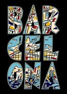 Javier Mariscal - Barcelona Poster
