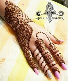 Beautiful Back Hand Mehndi
