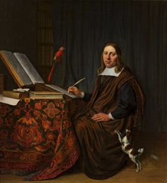 Portrait of a man writing at a table (Scholar in his study) by Hendrick Martensz. Sorgh, 1663 (PD-art/old), Muzeum Narodowe w Warszawie (MNW)