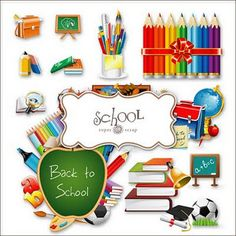 Free clip art for back to school.