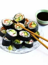 Healthy Brown Rice Sushi! | culinary adventure in the kitchen