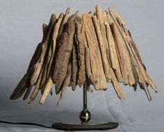 Driftwood Lamp Shade by Halsdriftwood on Etsy