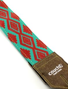 Turquoise & Red Camera Strap