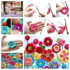 Wonderful DIY Easy Crochet Button Floral Fantasy | WonderfulDIY.com