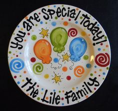 Hey, I found this really awesome Etsy listing at https://www.etsy.com/listing/123108687/family-special-day-or-birthday-plate