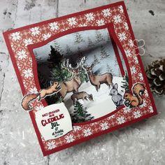 Scrappiness: Julekort, vi lager skyggeboks