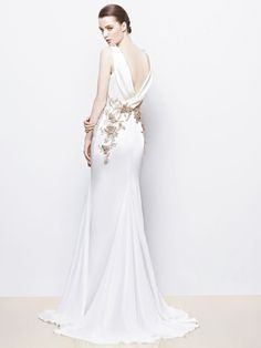 Bold colors and lace detailing with the 2014 Enzoani collection