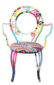 recycled fabric chair