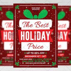 Christmas Sale - Seasonal A5 Flyer Template https://www.exclusiveflyer.net/product/christmas-sale-seasonal-a5-flyer-template/