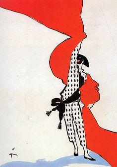 International Textiles (1950) by René Gruau