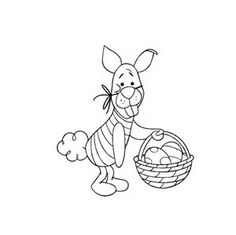 Printable Winnie The Pooh Easter Coloring Pages