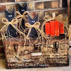 2'x4' Black Cats & Pumpkins