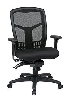 Shop Staples® for Office Star Manager''s Chair, Black. This Office Star managers chair features one touch pneumatic seat height adjustment, multi-function control with seat slider, forward pitch and adjustable tilt tension. Large Home Office Furniture, Home Office Chairs, Desk Chairs, Room Chairs, Dining Chairs, Bar Chairs, Eames Chairs, Upholstered Chairs, Lounge Chairs