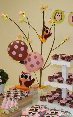 Festa Infantil Corujinhas - Árvore da Coruja