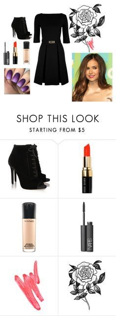 Nina  Style by hindorwhatever on Polyvore featuring moda, Love Moschino, Tabitha Simmons, Forever 21, MAC Cosmetics, Bobbi Brown Cosmetics, NARS Cosmetics and Ilia
