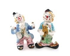 Musician clown figurines by reconstitutions on Etsy