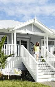 Beach house exterior ideas beach house style coastal style home ideas beach house exterior colors designing House Paint Exterior, Exterior House Colors, Exterior Design, Grey Exterior, Exterior Stairs, Wall Exterior, Cottage Exterior, Beach Bungalow Exterior, Exterior Siding