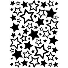 "Embossing Folder 4.25""x5.75"" - Stars Assortment"