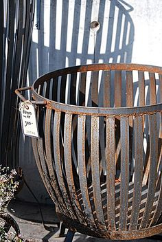 metal basket, but a basket still...