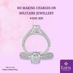 A sparkling solitaire ring in gold perfect for everyday wear. http://bit.ly/2skMmL8 #Solitairejewellery #TaraJewellers #Diamondjewellery #Certfieddiamonds #BIShallmarkedjewellery