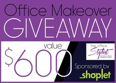 win a complete office makeover 600 value from shoplet the office - Office Makeover Contest